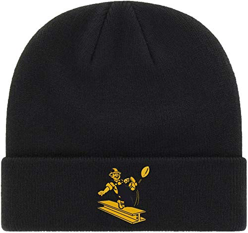 '47 Pittsburgh Steelers 1962 Black Cuff Beanie Hat - NFL Vintage Throwback Cuffed Winter Knit Cap