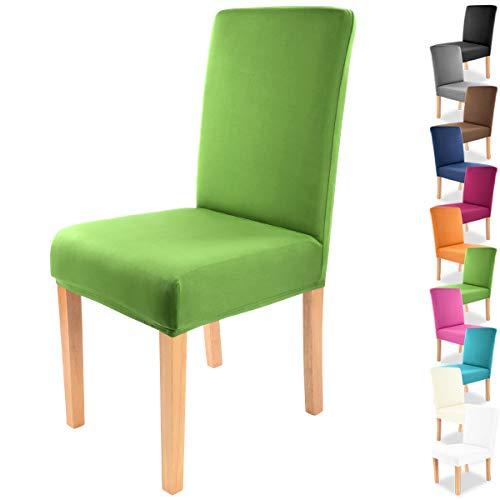 """Gräfenstayn® Funda para sillas elásticas Charles - respaldos Redondos y angulares - Ajuste bi-elástico con Junta Oeko-Tex Standard 100:""""Confianza verificada (Verde) ✅"""