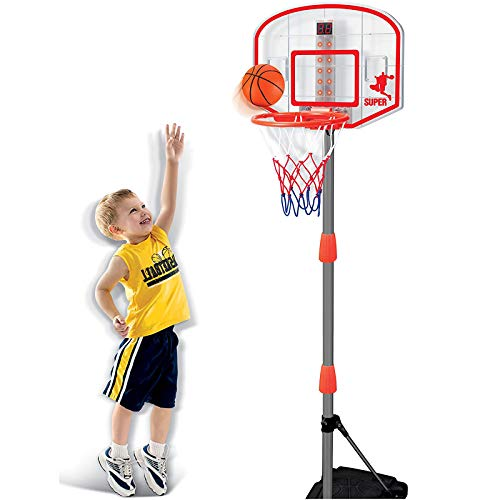 Liberty Imports Junior Electronic Basketball Hoop Stand Indoor Game with Scoreboard (Lights and Sounds)