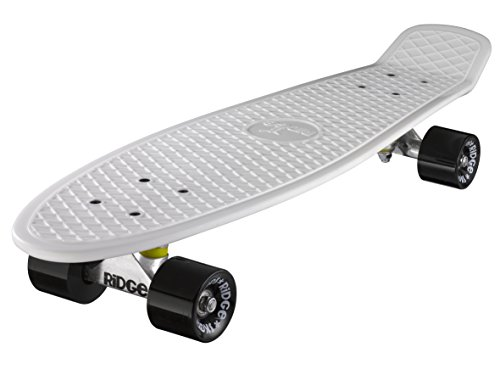 Ridge - Skateboard Big Brother Nickel Mini Skate Cruiser Completamente Assemblato Skateboard Unisex 0799456400754 Bianco/Nero