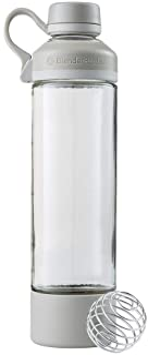 BlenderBottle Mantra Glass Shaker Bottle for Protein Mixes, 20-Ounce, Pebble Grey