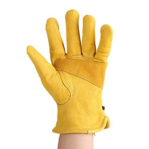 Fdit 1 Paar Garten Handschuhe Lederhandschuhe Arbeitsschutzhandschuhe Gartenarbeitshandschuhe Gartenarbeit Gartenhandschuhe Zum Pflanzen...