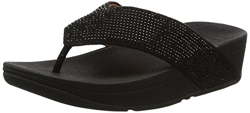 FitFlop Ritzy Toe-Thong Sandals, Sandalias con Punta Abierta Mujer, Negro 001, 36 EU