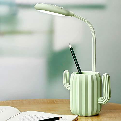 HE-XSHDTT Tischlampe, LED-Augenschutzlampe, berührungsempfindliche Schalterleselampen, mit wiederaufladbarer 3-Stufen-Dimmer-Tischleuchte, Faltbare Lernleselampe Kreative Tischlampe,Grün