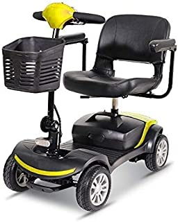 4 Wheel Power Scooter Culver Medical Mobility Disability Handicap Scout Compact Travel Power Scooter 12 mil (Yellow)