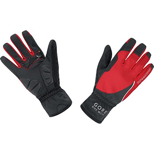 GORE BIKE WEAR Power Lady Windstopper - Guantes de ciclismo para mujer, Multicolor (Negro/Rojo), Talla 6