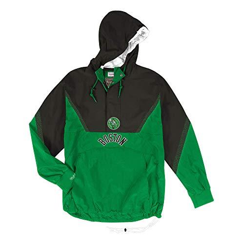 Mitchell & Ness Celtics Mens Patterned Anorak Half Zip Jacket (Large)