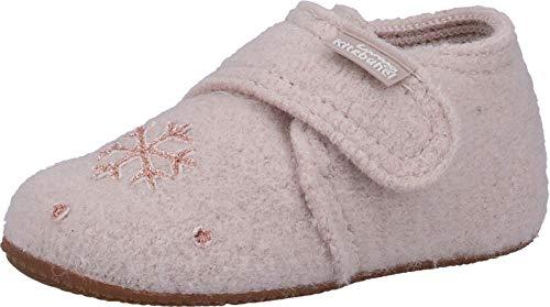 Living Kitzbühel Baby-Mädchen Babyklettschuh Winterflamingo Hausschuhe, Weiß (Frost 0113), 22 EU