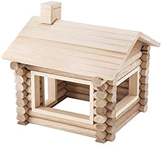 Wood Log Building Set - 77 Wood Building Blocks for Kids - Rodeo House Building Blocks for Girls and Boys Ages 3-7 Years -...