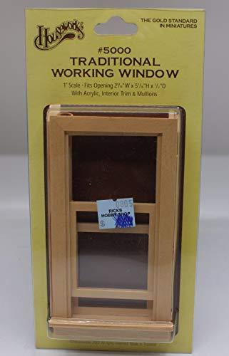 Houseworks, Ltd. Fenêtre à Guillotine Miniature Fonctionnelle pour Maison de Poupée Échelle 1/12 5000