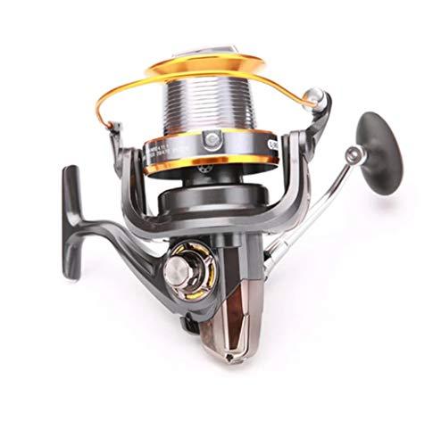 RongWang Mulinello da Pesca a Lancio Lontano Metallo LJ 3000-9000 Serie 12 + 1 BB Bevel Cup Serbatoio d'Acqua Dolce Richiamo Spinning Ruota da Pesca (Size : 9000 Series)