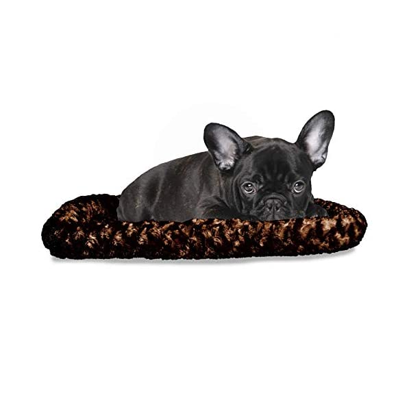 Furhaven Pet – Snuggly Soft Bolster Dog Bed & Tufted Crate Pillow Dog Cushion for Dogs & Cats – Multiple Styles, Sizes, & Colors