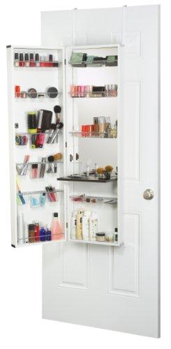 An over the door vanity is a genius bedroom space saver
