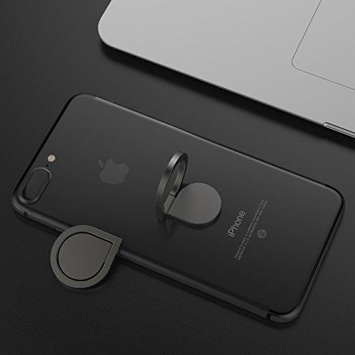 360° drehbarer Smartphone Fingerhalter (Schwarz) - 4