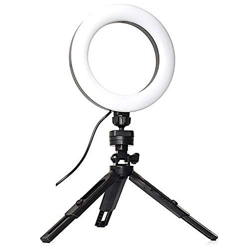 Fransande para Youtube Live 16 cm mesa de pie pie para selfie fotografía de iluminación con soporte de telón LED anillo de luz
