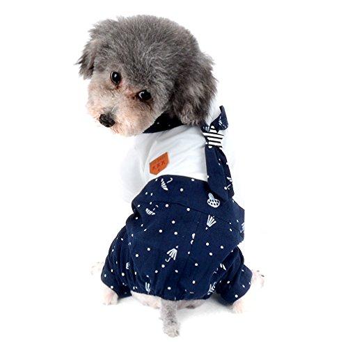 Ranphy 2018 Disfraz de marinero para perros pequeños y gatos, ropa de cachorro estampada (Talla S a XXL, todo para mascotas pequeñas)