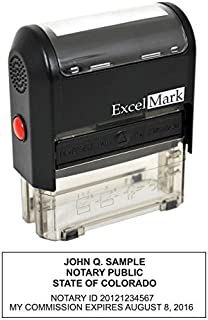 ExcelMark Self Inking Notary Stamp - Colorado