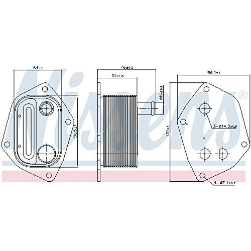 Nissens 90720 Radiador de Aceite Motor