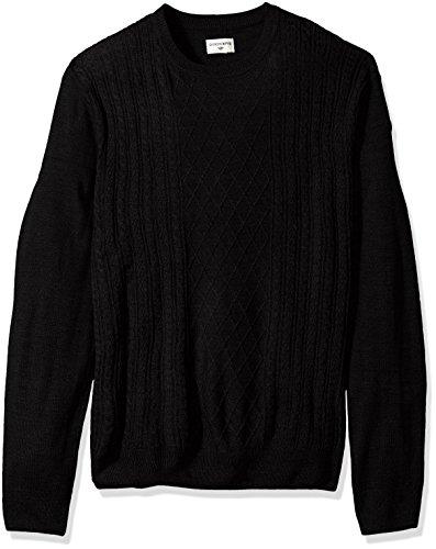 Dockers Men's Soft Acrylic Crewneck Sweater, Dark Black, X-Large