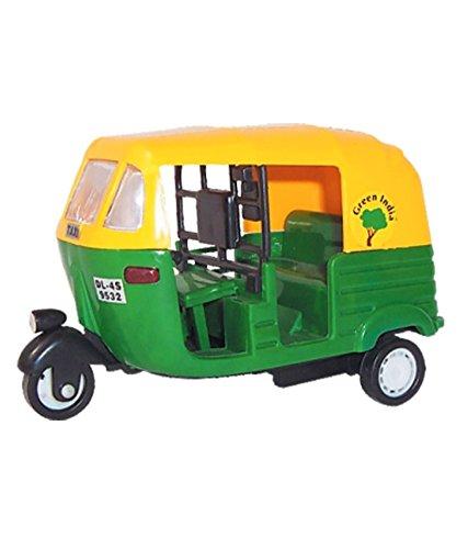 Indian Auto Rickshaw Toys TUK TUK Delhi AUTO Transport Pull Back Toy