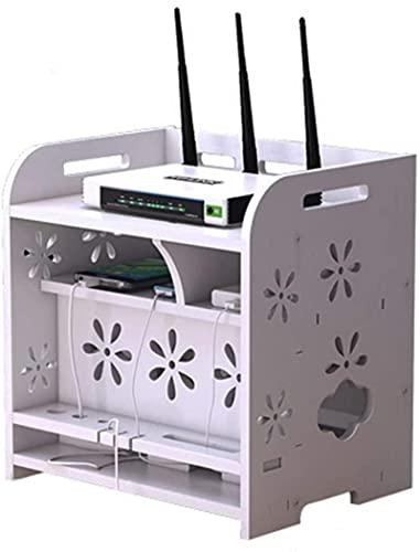 Box Router Förvaringsbox WiFi Router Fäste Set-top Hylla Fäste för TV-tillbehör WiFi Router TV Box Set Top Box (Co