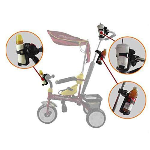 Binory 2 stks Baby Kinderwagen Bike Cup Houder 360 Graden Roterende Waterfles Drogen Rack, Verstelbare Drinkhouder Bike Water/Melkflessen Kooi voor MTB Fiets Motorfiets Boten, Meer Draagbaar voor mama