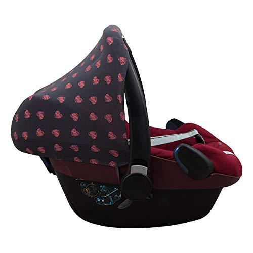 JANABEBE Sonnenverdeck für Maxi Cosi Bebe Confort Pebble (Fluor Heart)
