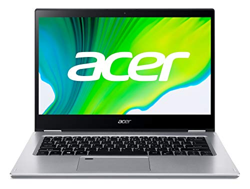 Acer Spin 3 (SP314-21-R8C4) 35,6 cm (14 Zoll Full-HD Multi-Touch) Convertible Laptop (AMD Athlon Silver 3050U, 4 GB RAM, 256 GB PCIe SSD, AMD Radeon Graphics, Win 10 Home) silber