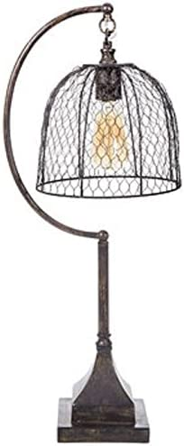 Lamp with trend rank Chicken Wire Shade Light Look Vintage Country Farmhous Dallas Mall