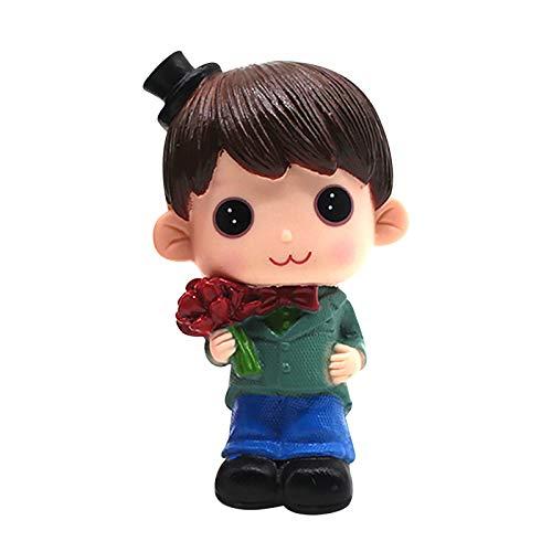 YANFANG Muñeca de la decoración del día de San Valentín , Estilo Encantador Muñeca Escena Decoración Adornos Día de San Valentín Muñeca Pastel Pareja Amor y Amistad