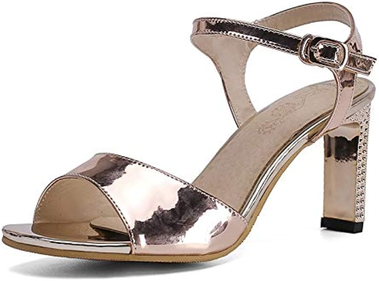 MENGLTX High Heels Sandalen 2019 Heier Frauen Sandalen Peep Toe High Heels Damen Pu Elegante Party Hochzeit Schuhe Frauen Sommer Kleid Schuhe