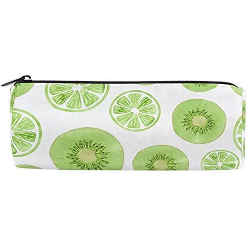 Früchte Grüne Kiwi Limette Scheiben Federmäppchen Reißverschluss Federmäppchen Federmäppchen Büromaterial Taschen Für Jugendliche Kinder Studenten