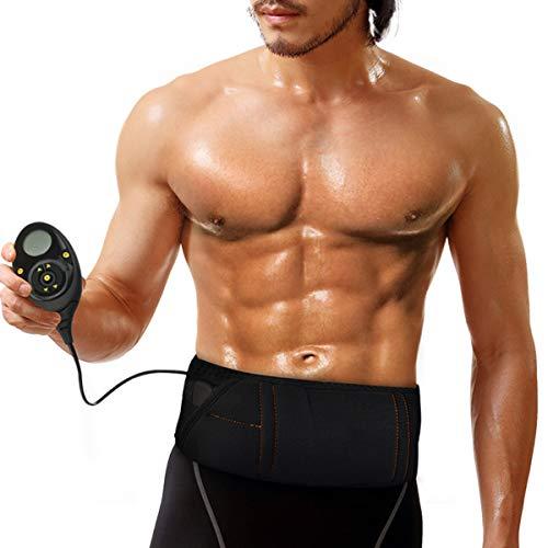 YHWD Eletrostimolatore Muscoli, Cintura Addominali con IntensitÀ Esercizio a 150 Livelli, Vita Addome Posteriore Anca per Vita Addome Schiena Anca