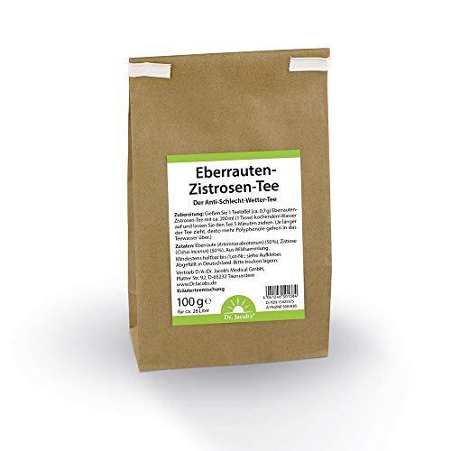Dr. Jacob's Eberrauten-Zistrosen-Tee 100 g I wohltuend und rein pflanzlich I Zistrose mit besonders vielen Polyphenolen I 100 g für ca. 28 Liter Teeaufguss