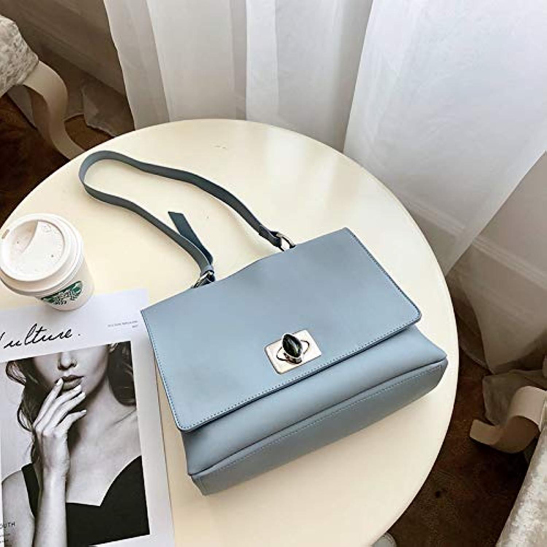 WANGZHAO Single Shoulder Bag, Satchel Bag, Handbag, Handbag, New Bag, Leisure, Simple and Retro Fashion,bluee