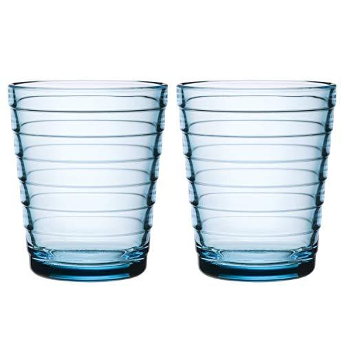 Iittala 1008549 glazen set Aino Aalto 2-delig 0,22 L, lichtblauw