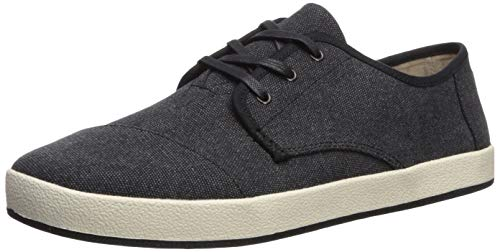 TOMS Men's Paseo Sneaker, Black Washed Canvas, 11 D Medium US