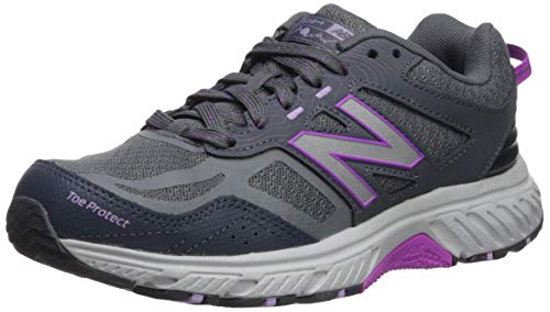New Balance Women's 510 V4 Trail Running Shoe, Lead/Voltage Violet, 7 B US
