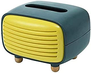 Tissue Boxes - Vintage Radio Facial Tissue Box Cover Napkin Holder Paper Towel Dispenser Home (BLY)