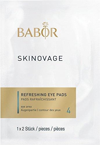 BABOR SKINOVAGE Refreshing Eye Pads, hydraterende oogpads, frisse kick voor vermoeide ogen, verlicht rimpels, ideaal voor onderweg, 5 x 2 stuks