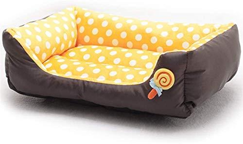 YAOSHUYANG Perro Cama Caliente Pet Nest Lollipop Forma Gato Perro sofá Cama Lavable Impermeable y mordida Resistente para Perros medianos, Verde, m (Color : Orange, Size : Medium)