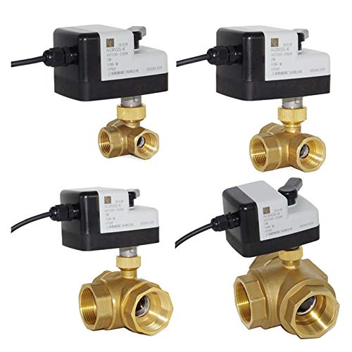 Válvula solenoide eléctrica Válvula de bola interruptor de la válvula de bola eléctrica AC220V DC24V Normalmente Abrir la válvula normalmente cerrada de la válvula solenoide de dos cables eléctricos d