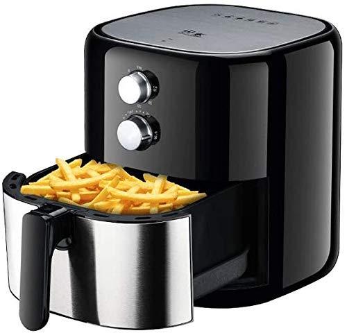 QTCD 1200W Air Fryer, 3.5L Oil-Free Antihaft-Pfanne mit Ofen, Fast Air Circulation System, leicht zu reinigen und Einstellbarer Temperaturregelung fanghua