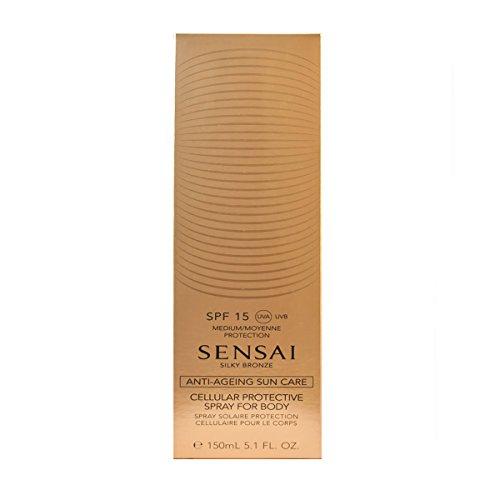 Sensai Silky Bronze femme/woman, Cellular Protective Spray for Body SPF15, 1er Pack (1 x 150 ml)