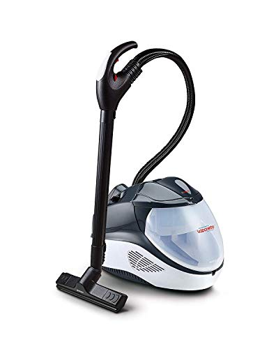 Polti Vaporetto Lecoaspira FAV70_Intelligence Limpiador a vapor y aspirador con filtro de agua 6 programas automáticos 55 Bar Negro y blanco