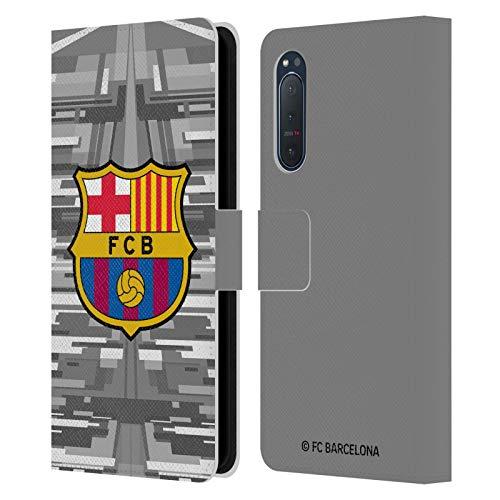 Head Case Designs Licenciado Oficialmente FC Barcelona Portero Segunda equipación 2019/20 Crest Kit Carcasa de Cuero Tipo Libro Compatible con Sony Xperia 5 II 5G