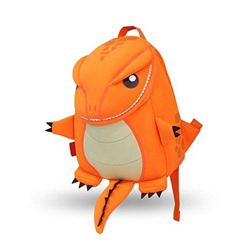 yisibo Mochilas para Niños Kindergarten Preescolar para Niños Pequeños/Niñas Mochila 3D Bolsa De Animales Mochilas para Niños Linda Mochila De Guardería, 2-6 Años(Dragón-Naranja)