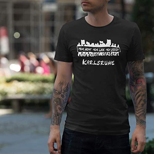 World of Football T-Shirt Meine Heimat. Karlsruhe - L