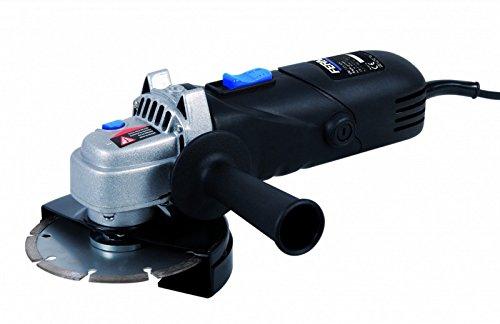 Ferm AGM1053 Winkelschleifer 115 mm, 880 W, 230 V, Schwarz, Blau