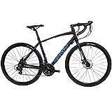 Tommaso Siena - Shimano Tourney Gravel Adventure Bike with Disc Brakes, Extra Wide Tires,...